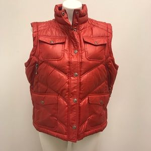 Harley Davidson Size XL Red quilted Zip Up Vest
